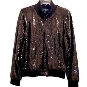 Black sequin Ralph Lauren jacket SPORTY RICH YSL